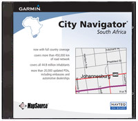 MapSource City Navigator South Africa