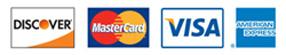 American Express, Discover, MasterCard, Visa